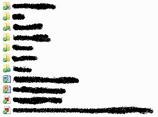Data-data yang tersingkronisasi online dalam folder dropbox