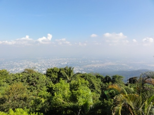 Memandang kota Chiangmai dari Doi Suthep