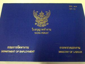 Dokumen work permit Thailand